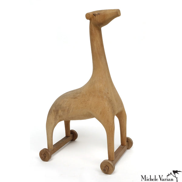 Hand Carved Wooden Giraffe
