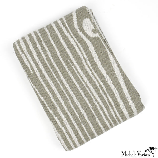STOOP SALE Grey Wood Grain Throw Blanket