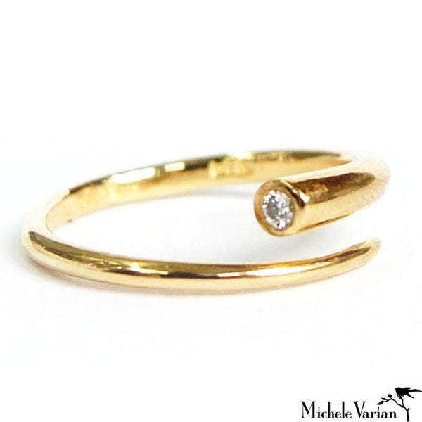 Gold Wrap Ring With Diamond