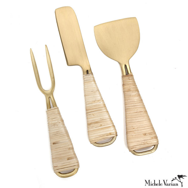 Wrapped Brass Cheese Tools