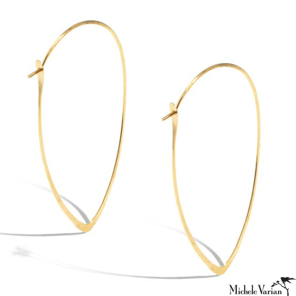Oversized Gold Leaf Hoops