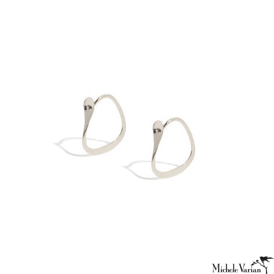 Tiny Triangle Sterling Silver Hoops
