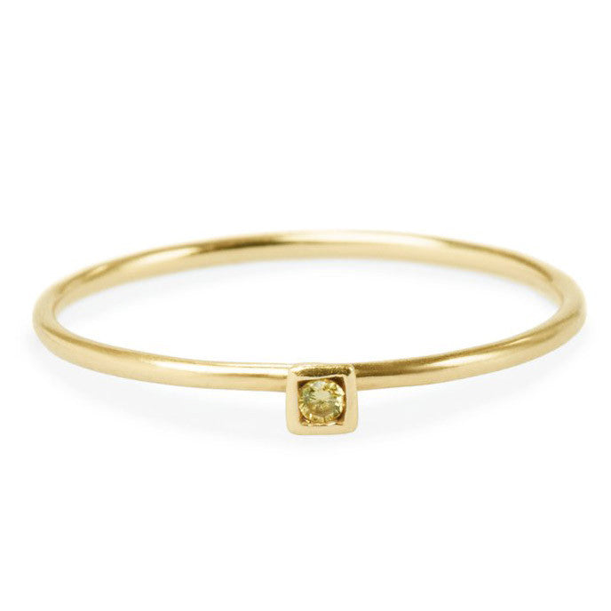 Yellow Diamond Friendship Ring