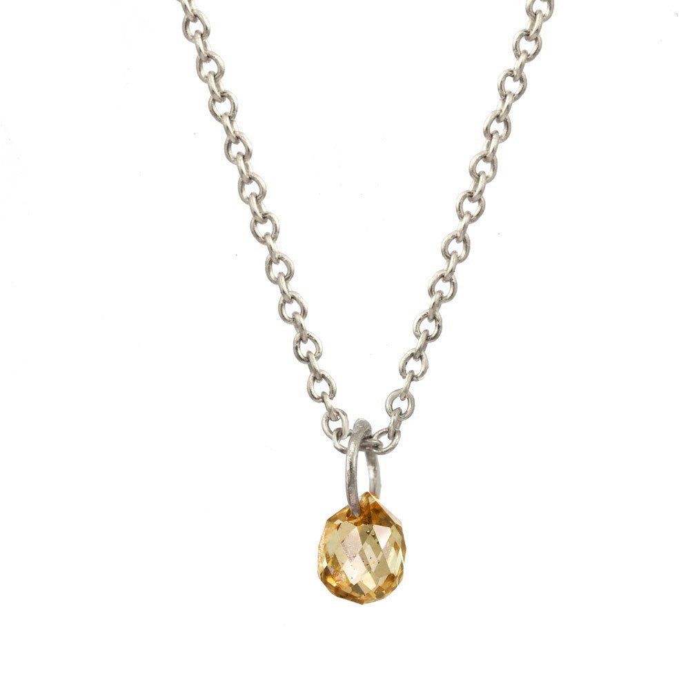 Yellow Sapphire Briolette Necklace