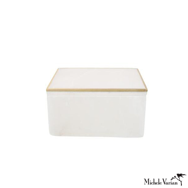 Alabaster Jewelry Box Square