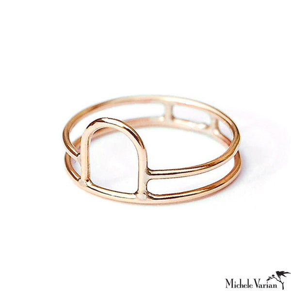 Gold Open Arch Ring