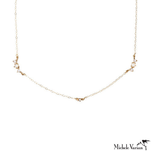 Beacen Mother of Pearl Gold Necklace