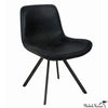 Black Padded Leather Chair