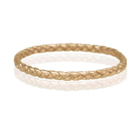 Gold Tiny Braid Ring