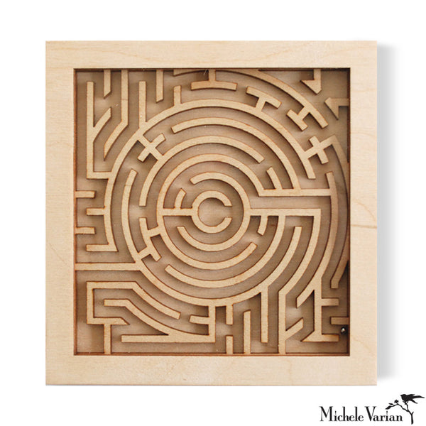Calm Rolling Maze Marble Game Puzzle