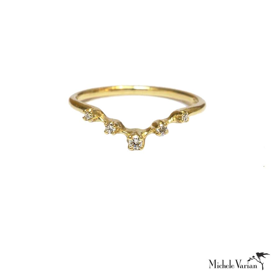 Nesting Diamond Gold Ring