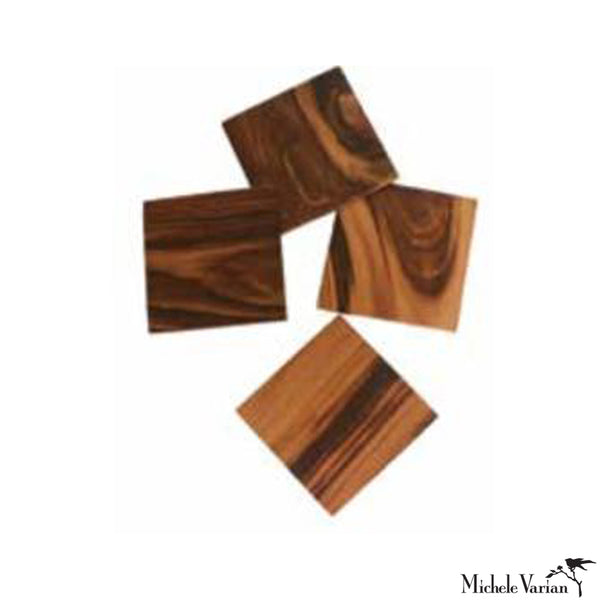 Exotic Hard Wood Coasters set of 4