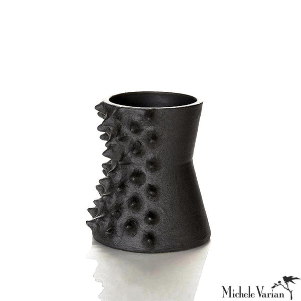 Spiked Black Pinched Vessel