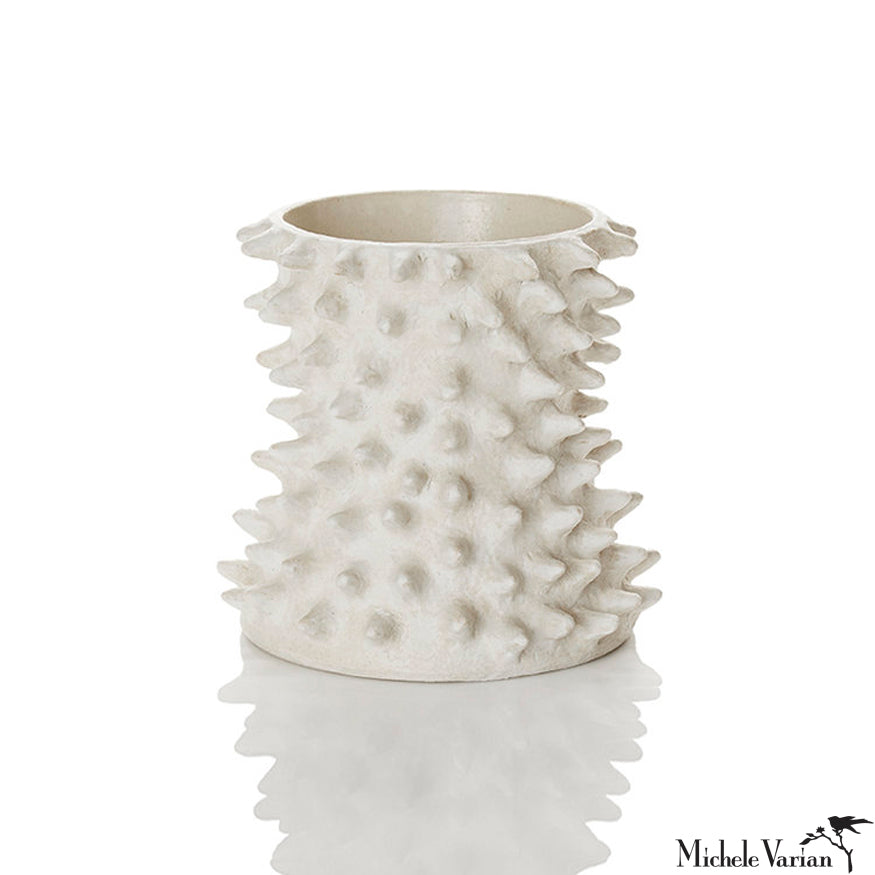 Spiked Ivory Pinched Vessel