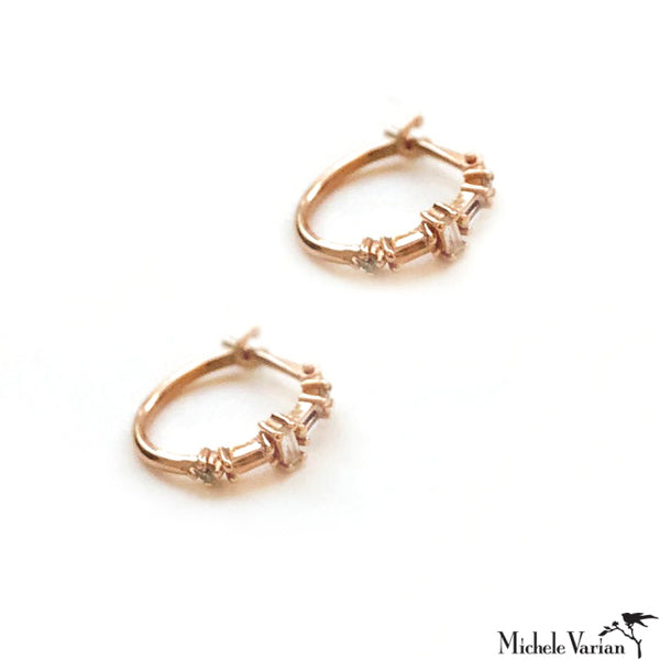 Deco Mini Hoop Earring