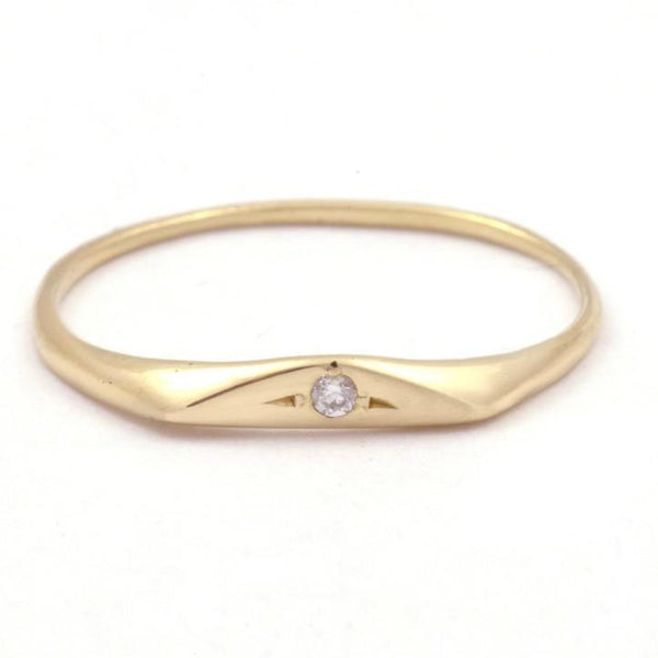 Petite Diamond Signet Ring