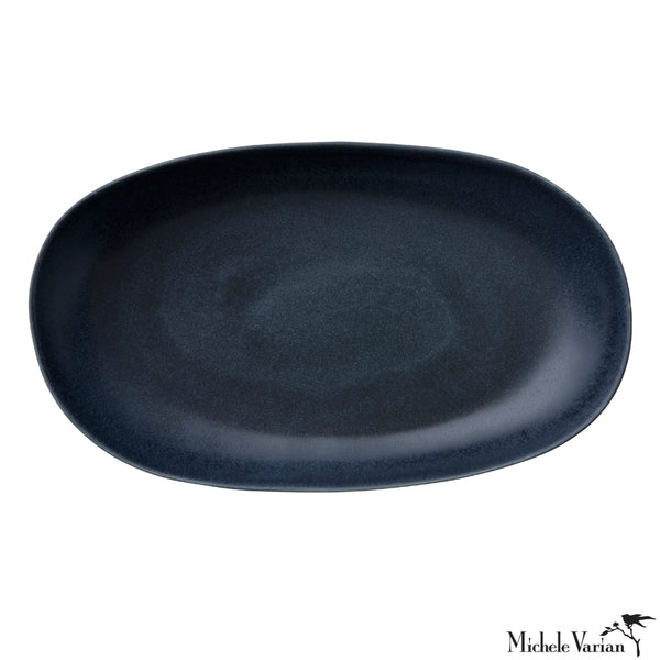 Large Ceramic Platter Midnight Glaze