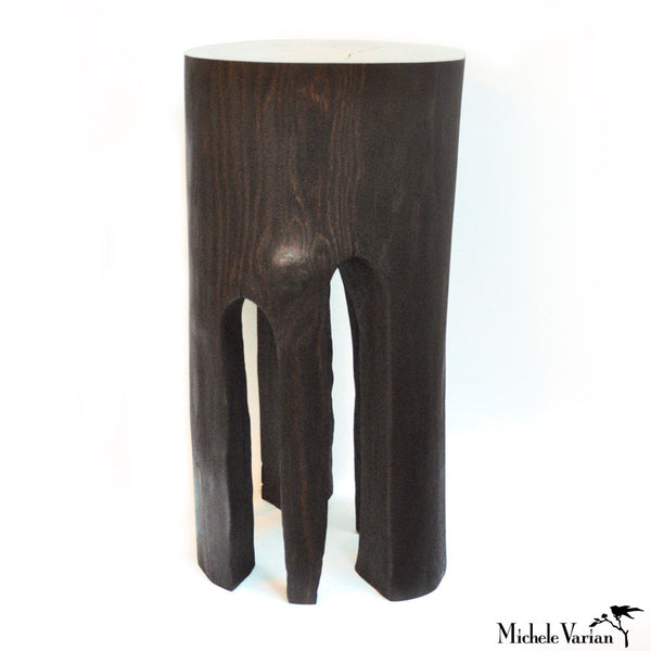 Ebonized Burnt Out Stump Side Table 02