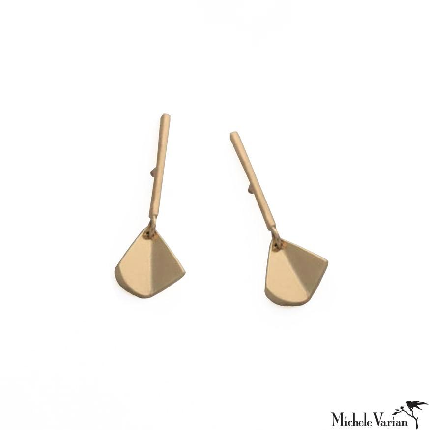 Solid Gold Flicker Stud Earrings