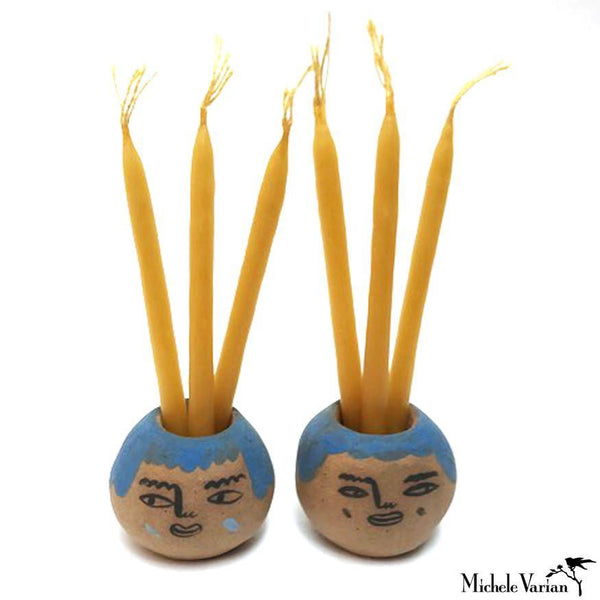 Friends Terracotta Candleholders - Pair