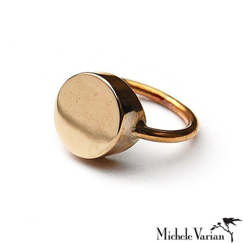 Brass Gemma Ring