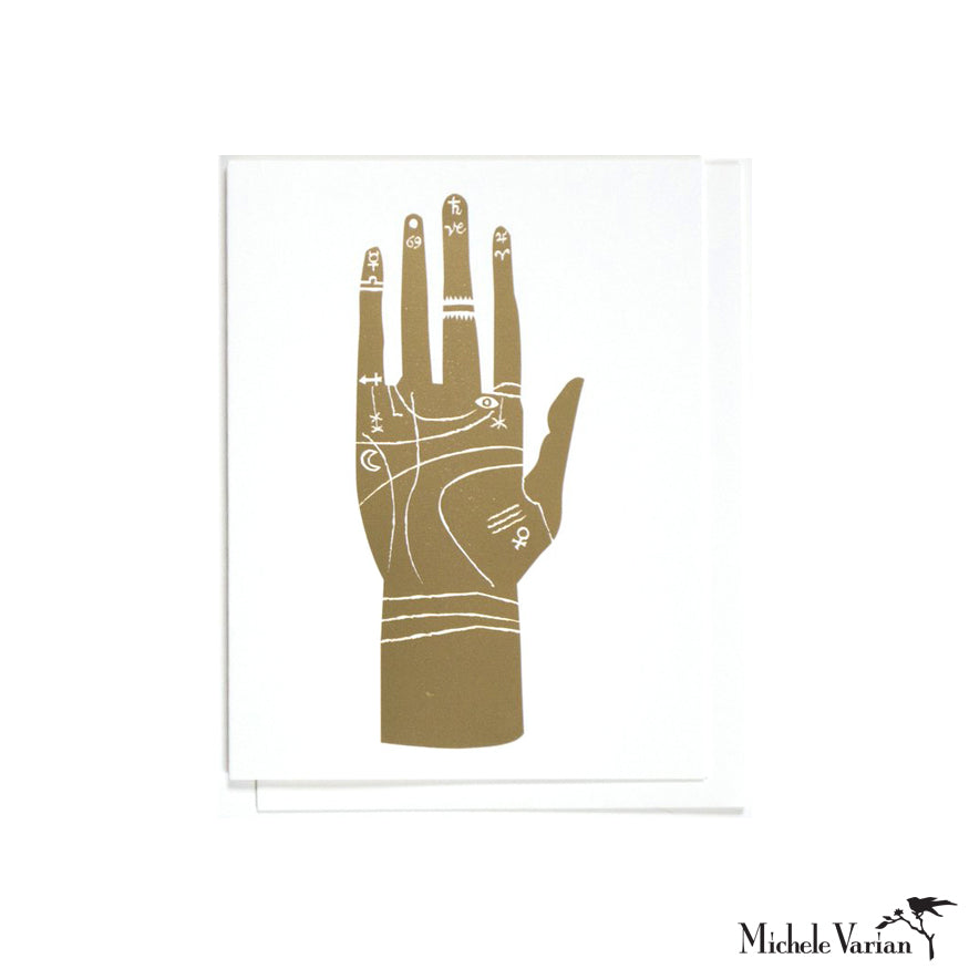 Gold Palmistry Card