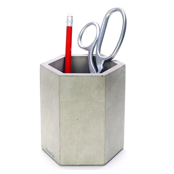 Hexagon Concrete Pen Cup