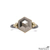 Hexagon Pyrite and Diamonds Gold Ring