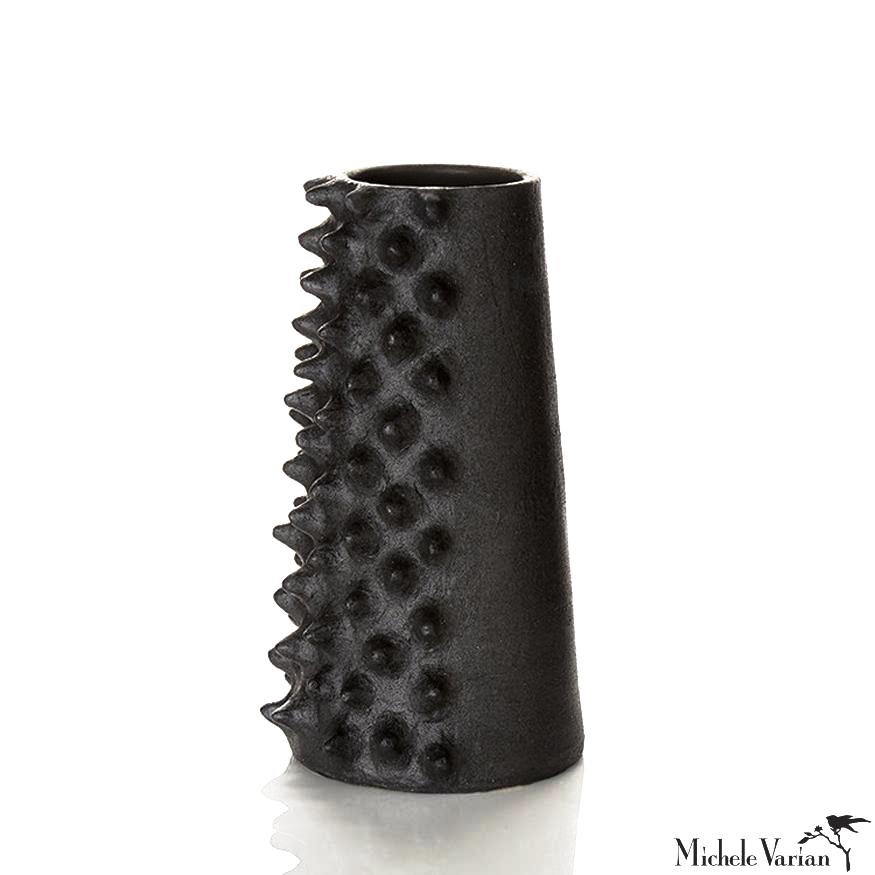 Spiked Matte Black Vessel Large