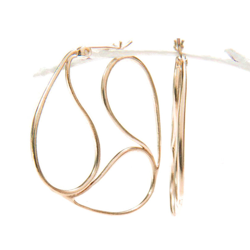 Gold Hug Me Hoop Earrings