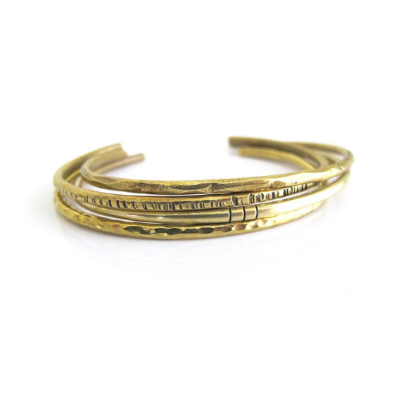 Goldeluxe Jewelry Brass Notch Cuff