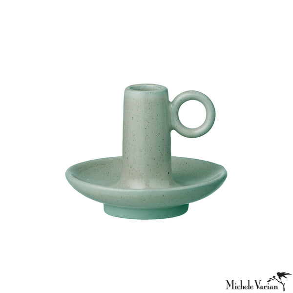 Stoneware Candlestick Holder Ivy Green