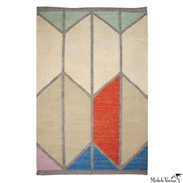 Wool Geometric Shapes Rug No. 1