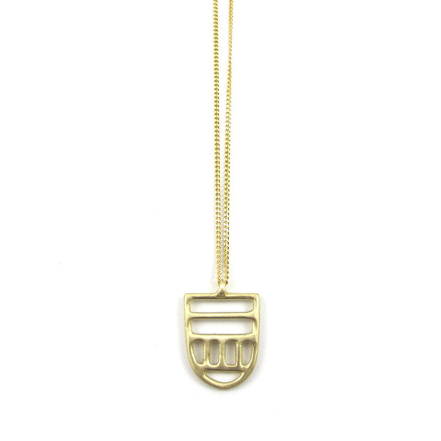 Goldeluxe Jewelry Brass Small Linear Pendant