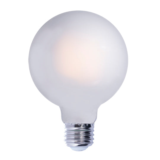 LED White Globe E26 Base G40 Bulb