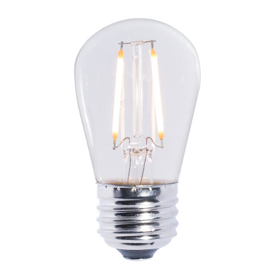 LED Clear E26 Base S14 Bulb