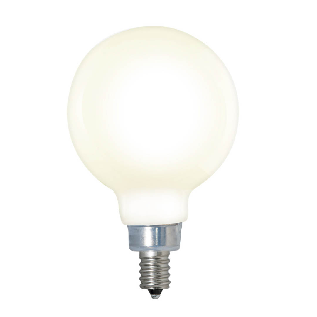 LED White Globe E12 Base G16 Bulb