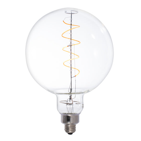 LED Clear Oversize Globe E26 Base G63 Bulb