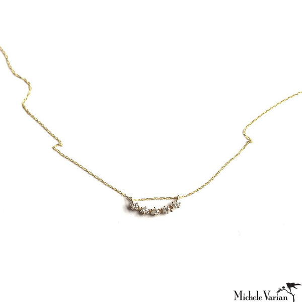 Majesty Curve Diamond Gold Necklace