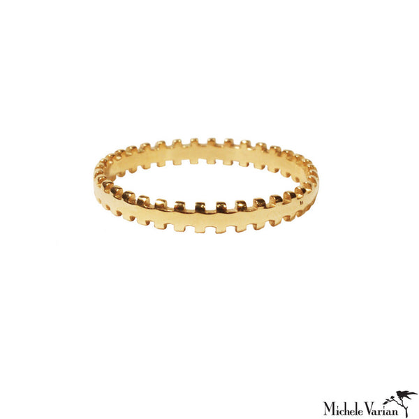 Gold Wheel Ring