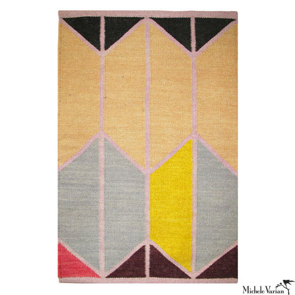 Wool Geometric Shapes Rug No. 02