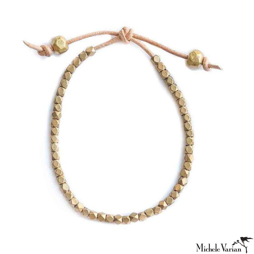 Mia Facet Bracelet Tan