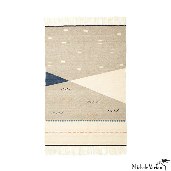 Dash and Zig Zag Wool Woven Rug