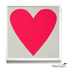 Neon Heart Silkscreen Print Art Framed or Unframed