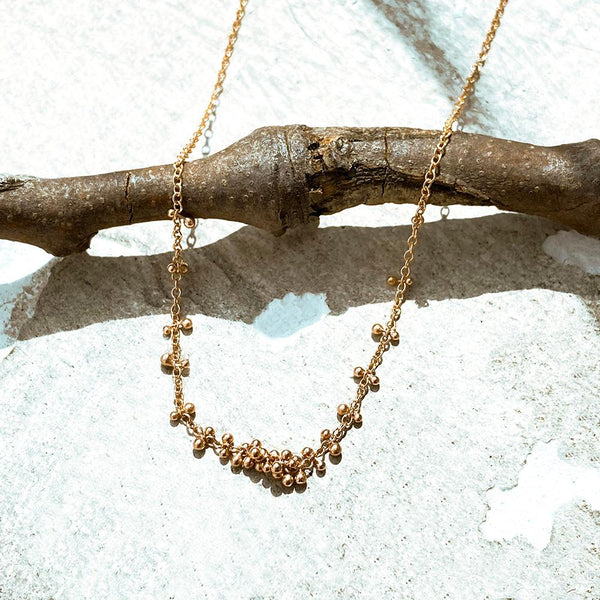 Rose Gold Northern Star Cluster Necklace