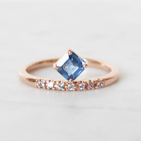Rose Gold Sapphire Ring Michele Varian Shop