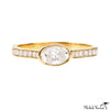Rosecut Oval Diamond Ring