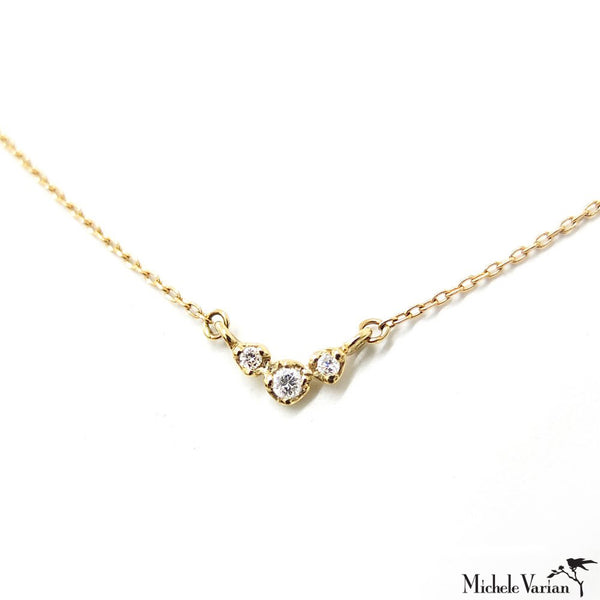 Diamond Arch Gold Necklace