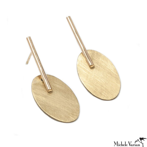 Tala Mini Drop Brass Earrings