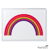 Rainbow Silkscreen Print Art Framed or Unframed